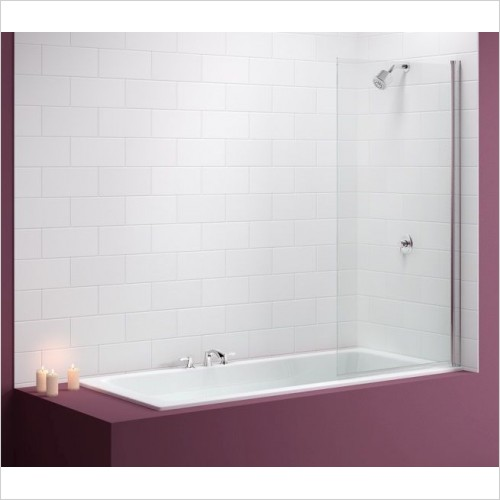 Merlyn Bathscreen - Vivid Bath Screen 800 x 1500mm Square