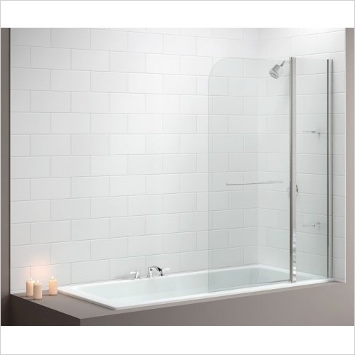 Merlyn Bathscreen - Vivid Bath Screen 1150 x 1500mm Curved 2 Panel