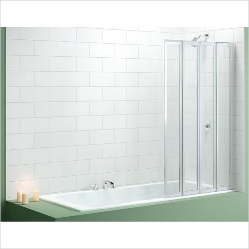 Merlyn Bathscreen - Vivid Bath Screen 850 x 1400mm 4 Fold