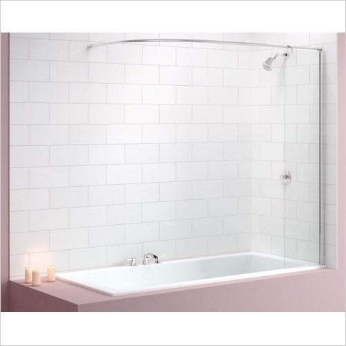 Merlyn Bathscreen - Vivid Bath Screen 300 x 1500mm Curtain Rail