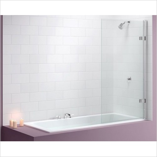 Merlyn Bathscreen - Vivid Bath Screen 850 x 1500mm Square Hinge