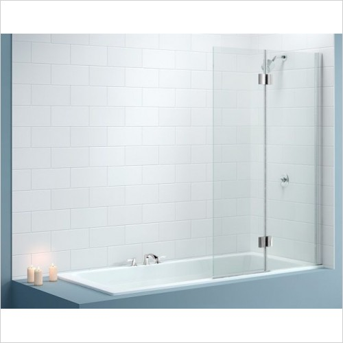 Merlyn Bathscreen - Vivid Bath Screen 900 x 1500mm Left Hand Door Square Hinge