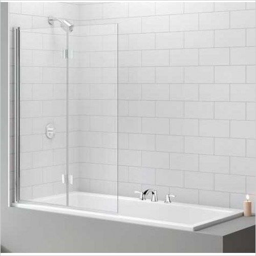 Merlyn Bathscreen - Vivid Bath Screen 1100 x 1500mm 2 Fold Hinge