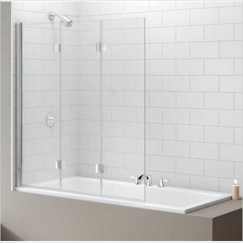 Merlyn Bathscreen - Vivid Bath Screen 1400 x 1150mm 3 Fold Hinge