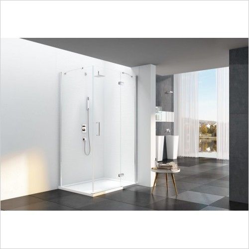 Merlyn Shower enclosures - 6 Series Frameless Hinge & Inline 1100mm Corner
