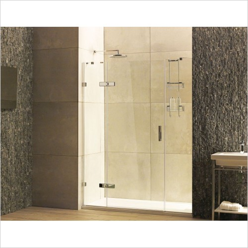 Roman Shower Enclosures - Liberty 8 Hinged Door For 2 Inlines Alcove