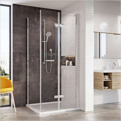 Roman Shower Enclosures - Innov8 Bifold Corner Door - 1000mm