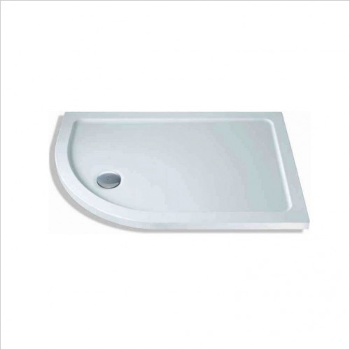 Bathwise Shower Tray - 40mm Low Profile Offset Quadrant Tray 140x80cm [LH]