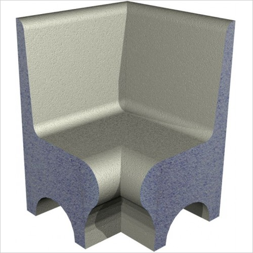 Abacus waterproof Shower Seat - Elements Internal Mitre Cut Section High Back Shower Seat