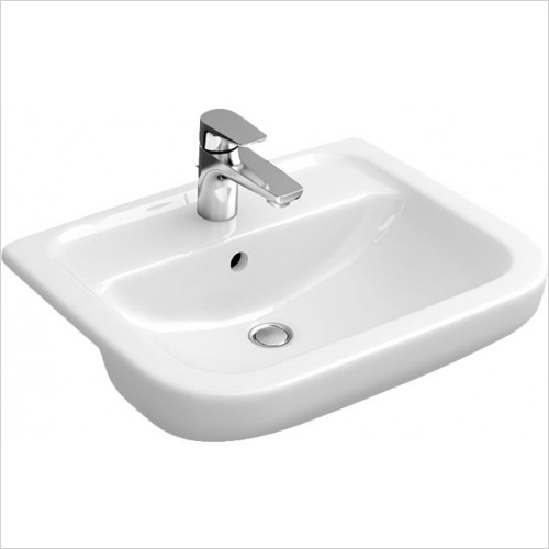 Abacus Washbasin - D-Style Semi Recessed Basin 550 x 460mm