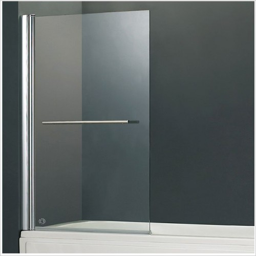 Abacus Baths - Vessini E 1 Part Bath Screen With Towel Bar