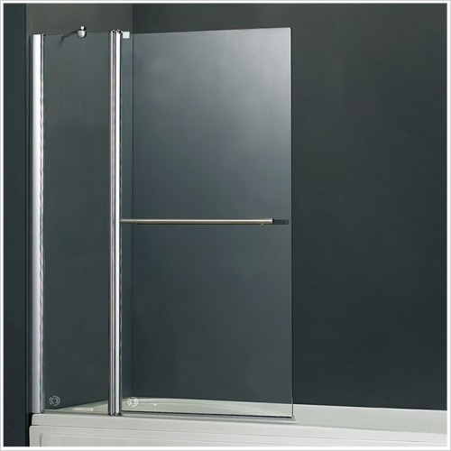 Abacus Baths - Vessini E 2 Part Bath Screen With Towel Bar