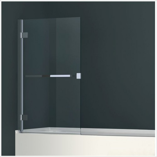 Abacus Baths - Minimal 1 Part Bath Screen With 500mm Towel Bar