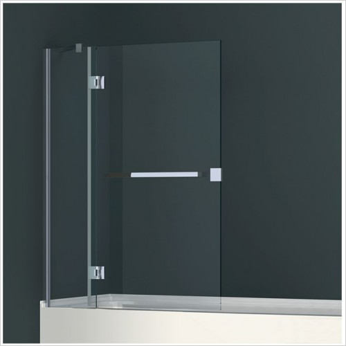 Abacus Baths - Minimal 2 Part Bath Screen With 500mm Towel Bar