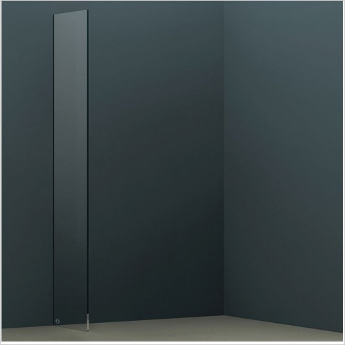 Abacus Wetroom Panels - X Series Glass Panel 390mm
