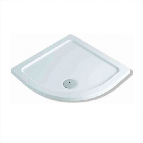 Bathwise Shower Tray - 40mm Low Profile Quadrant Tray 1000x1000mm