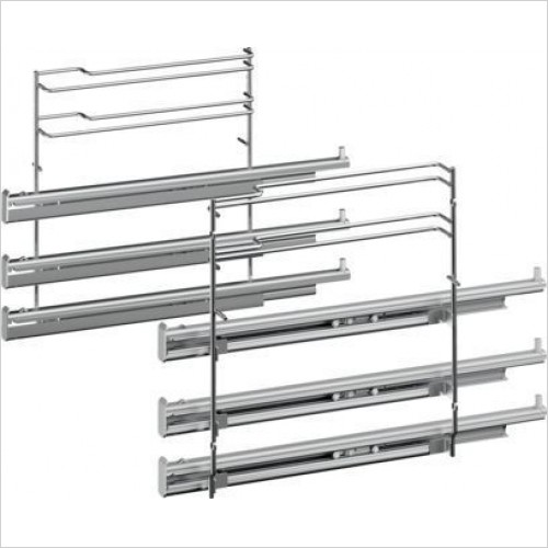 Siemens Accessories - iQ700/iQ500 3 Level Telescopic Shelf Rails With Stop