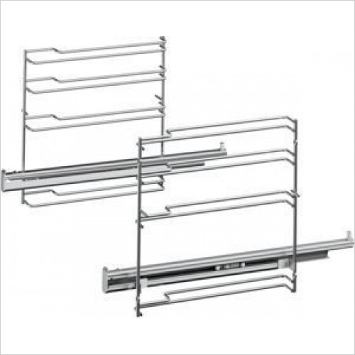 Siemens Accessories - iQ700 1 Level Telescopic Shelf Rails With Stop