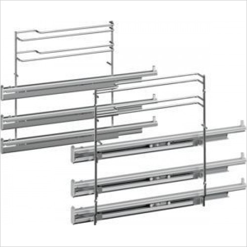 Siemens Accessories - iQ700 3 Level Telescopic Shelf Rails With Stop