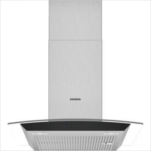Siemens Extractor Fan - iQ300 Curved Glass Chimney Hoods 60cm