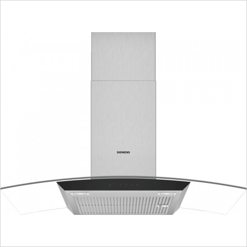 Siemens Extractor Fan - iQ300 Curved Glass Chimney Hoods 90cm