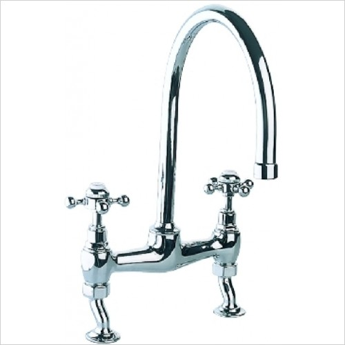 Just Tap Kitchen Sink Mixer - Vintage Bridge Sink Mixer minimum 0.2 bar pressure required