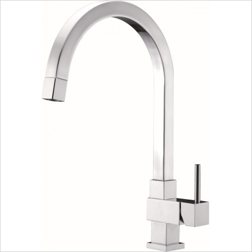 Just Tap Kitchen Sink Mixer - Kubix Pullout Single Lever Sink Mixer, Swivel Spout