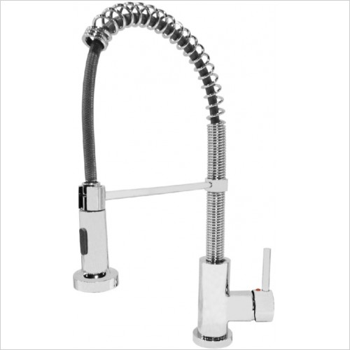 Just Tap Kitchen Sink Mixer - Spring Pull Out Single Lever Sink Mixer, Swivel Spout