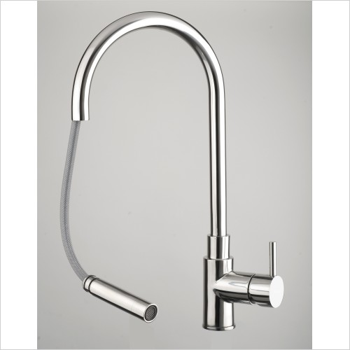 Just Tap Kitchen Sink Mixer - Zeeca Mono Sink Mixer With Pullout Spout