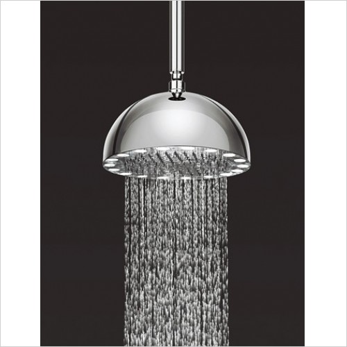 Clearance - Dynamo fix shower head with lights (no electrics rqd.) 300mm